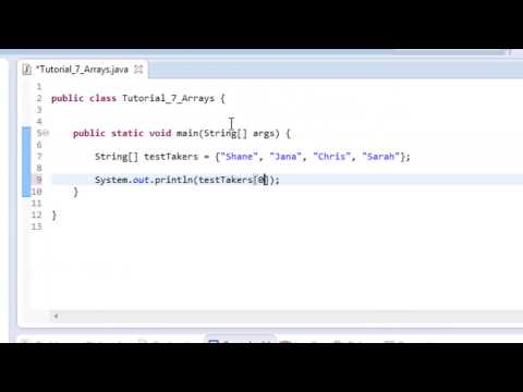 Beginner Java Tutorial #7: Arrays