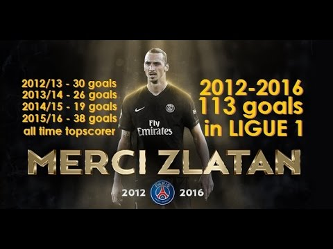 Zlatan Ibrahimović All 113 Goals For PSG In Ligue 1 (2012-2016)