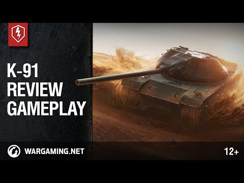 World of Tanks Blitz. K-91 Review and Gameplay (видео)