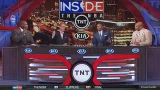 Inside The NBA-Shaq messes with Charles Barkley's Chair