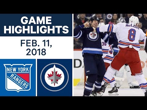 Video: NHL Game Highlights | Rangers vs. Jets - Feb. 11, 2018
