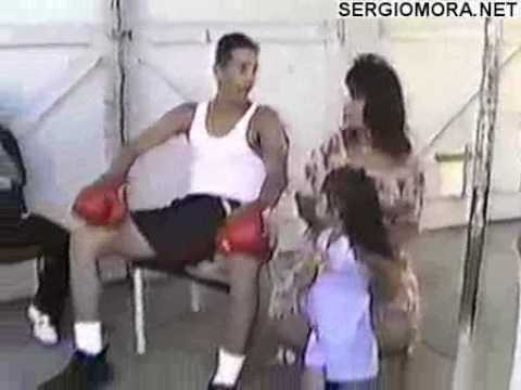 Sergio Mora 15Years Old In Back Yard BBq Boxing Part 2 0f 3