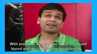 Visually Impaired using standard keyboard and screen reader
