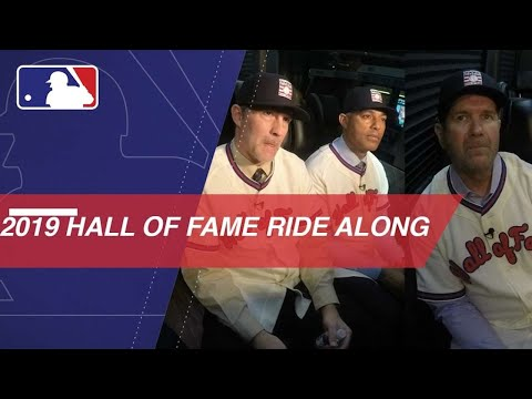 Video: Ride along with new Hall of Fame class to MLB Network