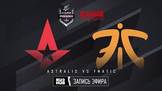 Astralis vs fnatic - ELEAGUE Premier 2017 - map1 - de_train [Crystalmay, sleepsomewhile]