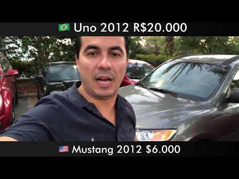 Com o valor de um Uno 2012 você compra um Mustang do mesmo ano nos Estados Unidos!