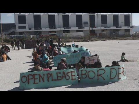 Διαμαρτυρία Αφγανών στο Ελληνικό