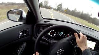 2012 Kia Optima Hybrid - WINDING ROAD POV Test Drive
