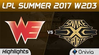 WE vs SS Highlights Game 3 LPL SUMMER 2017 Team WE vs Snake by Onivia Make money with your LoL knowledge...