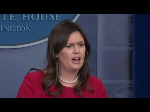 "Sarah Sanders says Trump ""eventually learned"" about Stormy Daniels payment"