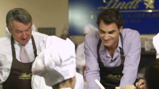 """Since 2011 Lindt & Sprungli and the Roger Federer Foundation support a special children's support program of the """"Winterhilfe""""..."""