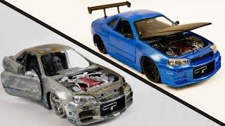 Video Repair Abandoned Toy Car #2 | Nissan Skyline GTR R34 MP3, 3GP, MP4, WEBM, AVI, FLV Mei 2019