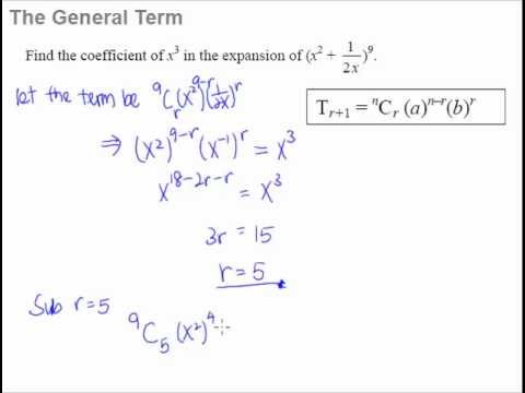 5 Binomial Theorem – The General Term formula