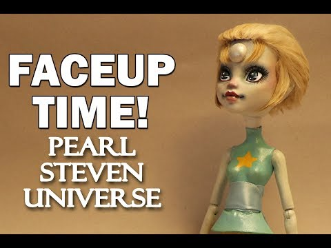 Faceup Time! Steven Universe Pearl Custom Doll