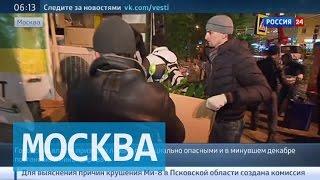 В Москве сносят незаконно построенные торговые павильоны и кафе