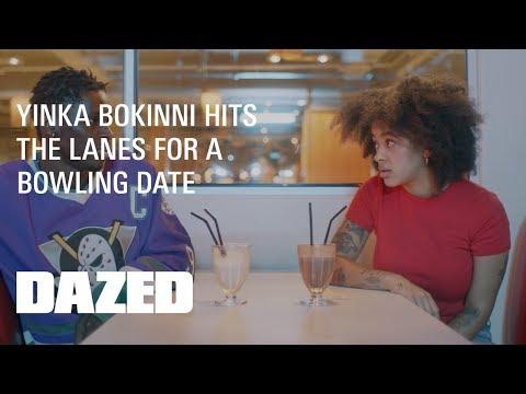 Yinka Bokinni goes bowling with Dazed X Tinder