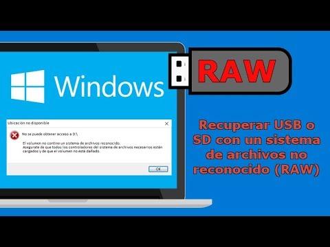 Video Recuperar archivos de memorias dañadas con el formato RAW - Tutorial para USB, Disco Duro o Tarjetas download in MP3, 3GP, MP4, WEBM, AVI, FLV January 2017
