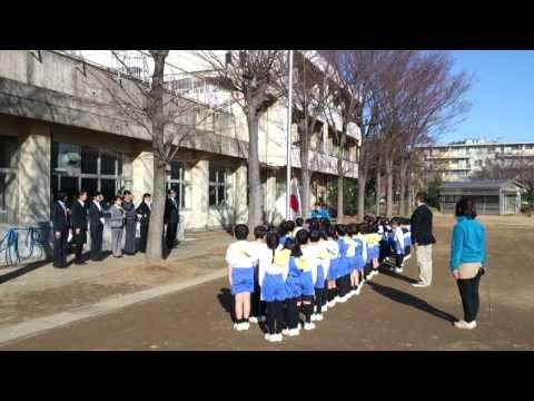20131213 千葉白菊幼稚園 国旗掲揚