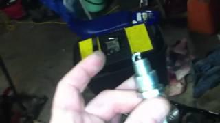 9. Yamaha PW 50 spark plug check