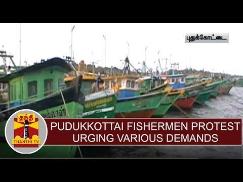 Kottaipattiam-Fishermen-Stage-indefinite-strike-urging-various-demands--Thanthi-TV