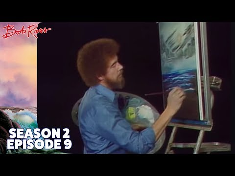 Bob Ross - Black and White Seascape (Season 2 Episode 9)