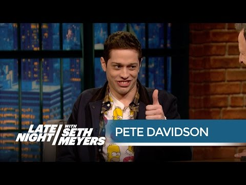 Pete Davidson Met His Look-ALike Christian Yelich - Late Night With Seth Meyers