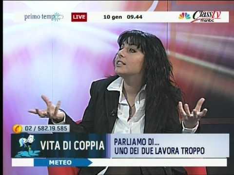 Valentina Villa intervistata da Christian Toscano ClassTV MSNBC - Primo Tempo Rubrica Vita di Coppia 10-01-2012