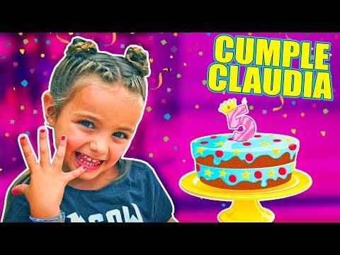 CUMPLEAÑOS  CLAUDIA 5 AÑOS!! PASTEL y REGALO!!  Itarte Vlogs