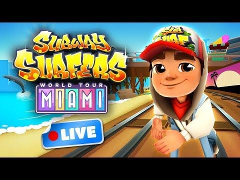Subway Surfers World Tour 2017 - Miami Gameplay Livestream (видео)