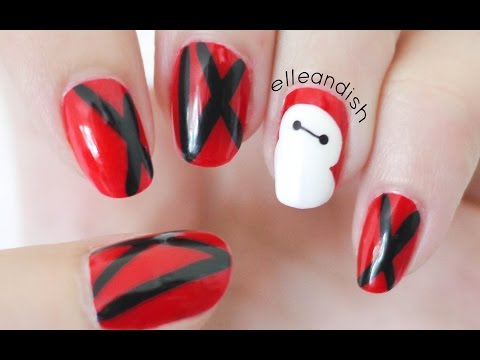hero - Big Hero 6 Nails! Featuring the character, Baymax! The movie is coming out in the USA on November 7th, so I wanted to do an inspired nail look for the film. This is the first Disney and Marvel...