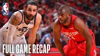 JAZZ vs ROCKETS   Clutch Defense Clinches Series   Game 5 by NBA