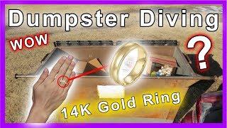 Found 14k gold wedding ring Dumpster Diving #216