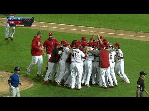 NL Central - 9/27/13: Trevor Rosenthal gets Darwin Barney to ground out for the final out of the game, which clinches the NL Central for the Cardinals Check out http://ML...