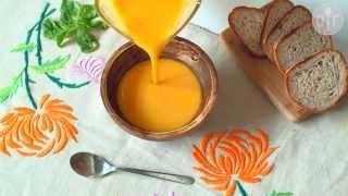 Soupe au potiron et au lait de coco