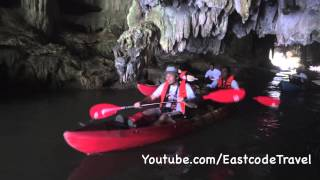 Tham Lod  Water Cave Kayaking  At Bor Thor Krabi Thailand