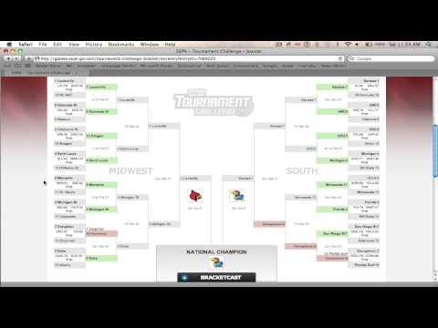 ESPN Tournament Challenge Update 1