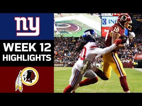 Video: Giants vs. Redskins | NFL Week 12 Game Highlights
