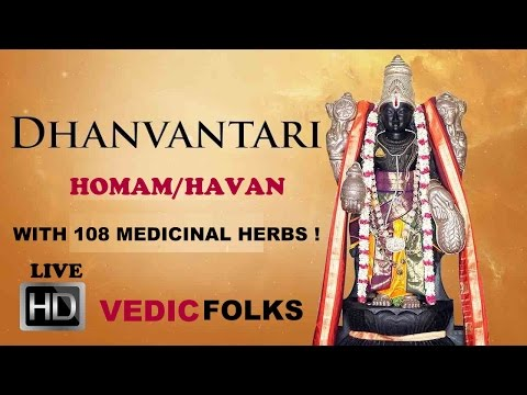 Dhanvantari Homam with 108 Medicinal Herbs - Vedicfolks.com (видео)