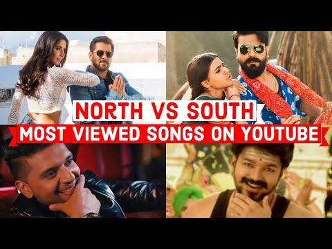 North Indian Vs South Indian Songs | Most Viewed Songs On Youtube | Hindi,Punjabi,Tamil,Telugu
