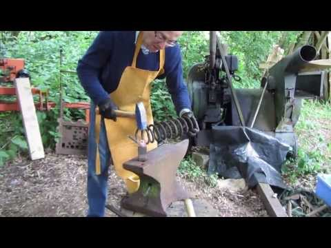 knife - Making a special spoon bowl carving tool from an old car spring using blacksmithing and tool making techniques. In this film I show you how to make a very us...