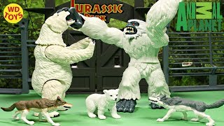 New Animal Planet Polar Bear Rescue Playset Indominus Rex Vs Yeti Abominable Snowman Unboxing