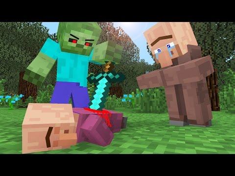 Villager Life III - Minecraft Animation (видео)