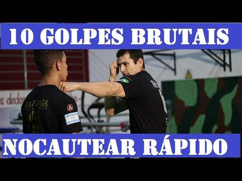 10 golpes para NOCAUTEAR FÁCIL - Defesa Pessoal Krav Maga