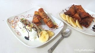 Nutella Banana Turon/Filipino Banana Turon recipe in Tamil
