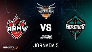 SUPERLIGA ORANGE - Asus Rog Army vs Team Heretics  - Jornada 5 - #SuperligaOrangeCR5