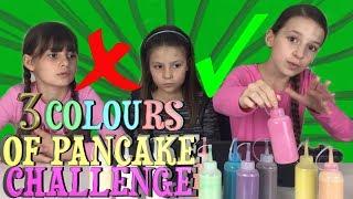Video 3 COLORS OF PANCAKE ART CHALLENGE !!! Lévanah & Family MP3, 3GP, MP4, WEBM, AVI, FLV Agustus 2018