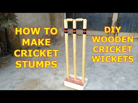 How Cricket Stumps Made - How to make Wooden Cricket Wickets at Home