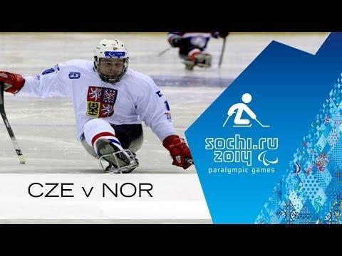 Czech Republic v Norway full game | Group stage | Ice sledge hockey | Sochi 2014 Paralympics