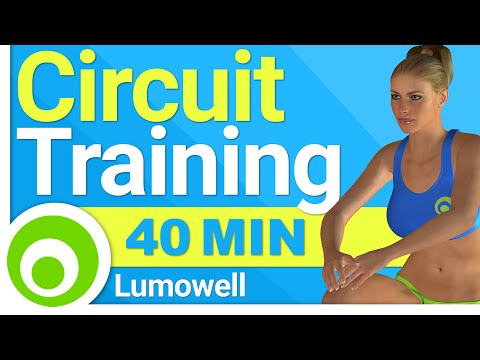 Circuit Training to Lose Weight and Tone Your Body - 40 Minute Full Body Workout