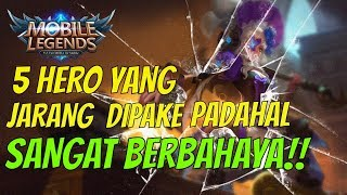 Video 5 Hero Ini JARANG DIPAKE Padahal BAHAYA BANGET!! | Mobile Legends Indonesia MP3, 3GP, MP4, WEBM, AVI, FLV Oktober 2017